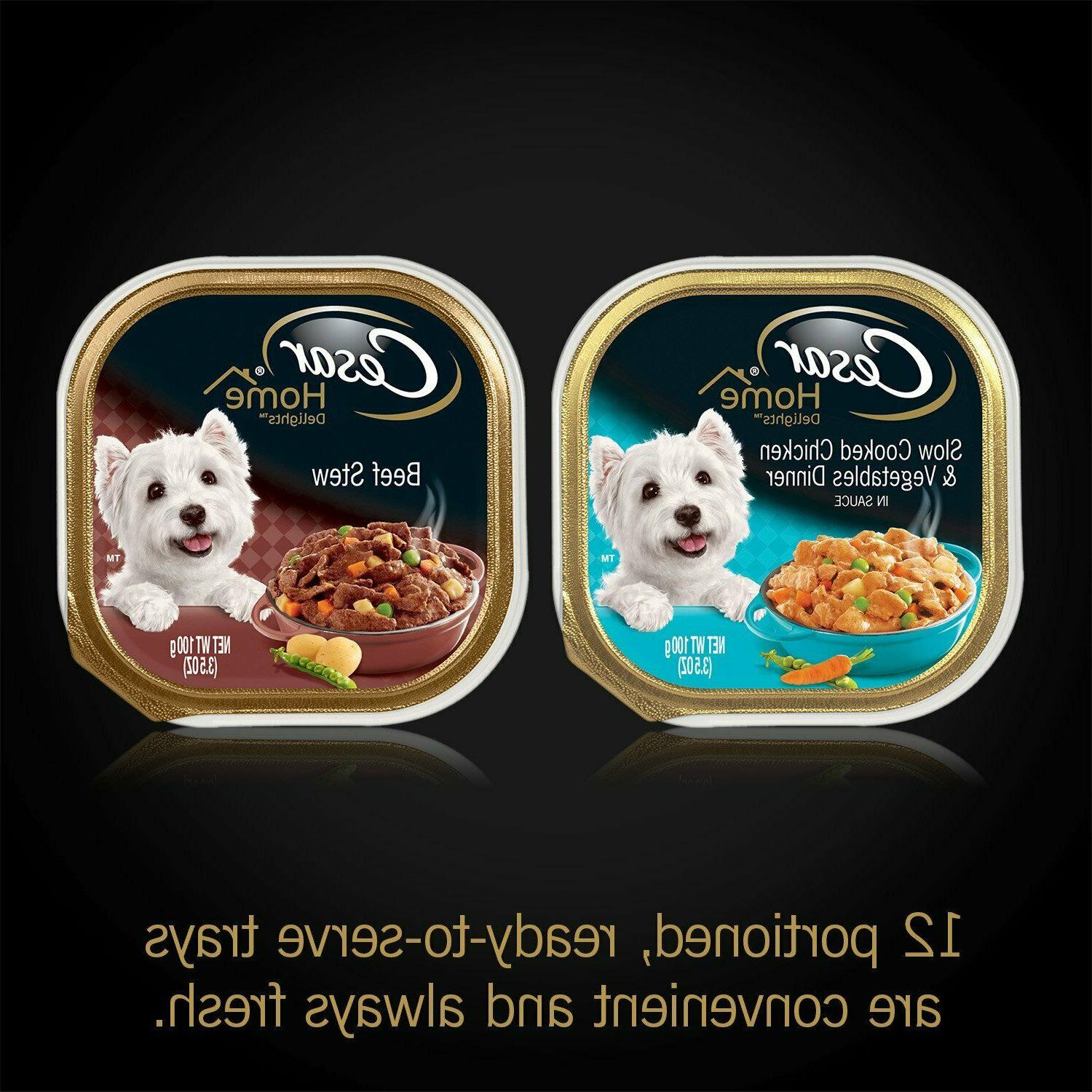 Cesar Classic Wet Dog Food Variety Chicken & Beef of 24