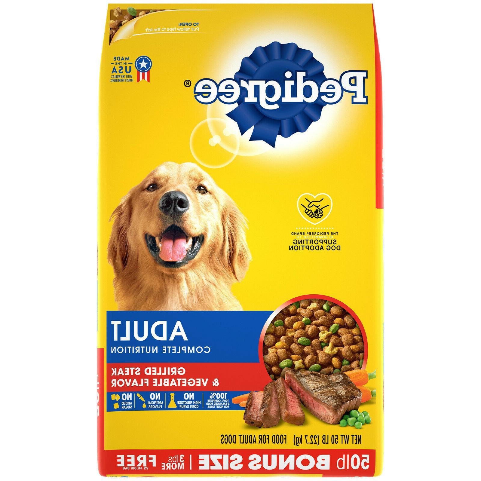 complete nutrition adult dry dog food grilled