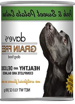 Daves Grain Free Formula Dog oz Can 12, Flavors