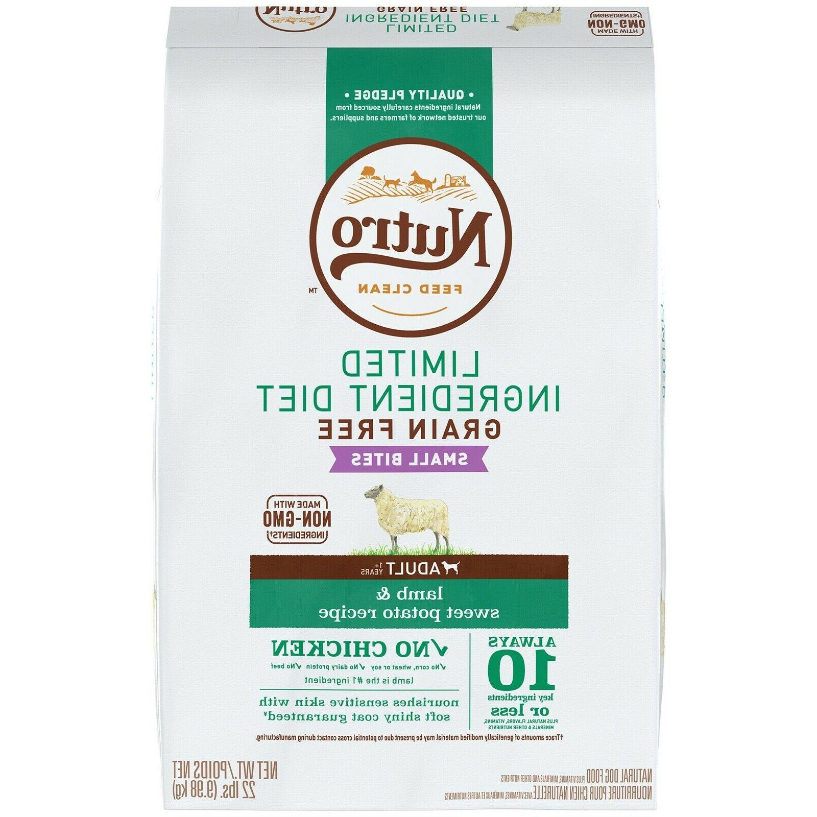 diet small bites dog food natural lamb