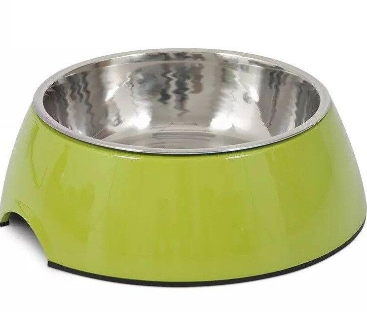 dog food and water bowl large