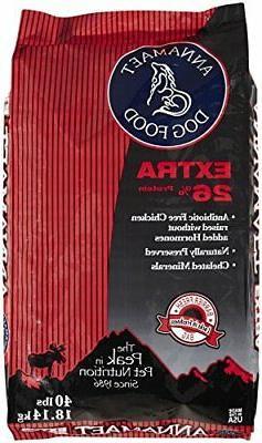 Annamaet Extra 26 Formula Dry Dog Food, 40 Lb