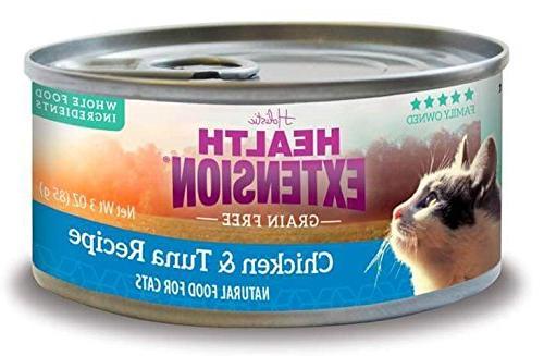 grain chicken tuna cats
