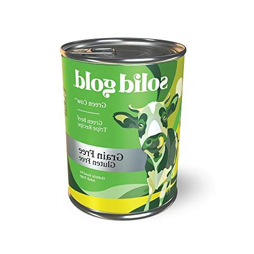 green cow wet dog food