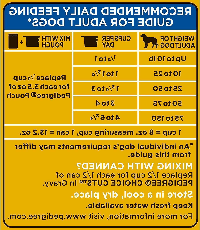 Pedigree High Dry Dog Food & Lamp 17-20.4-46.8-50Lb