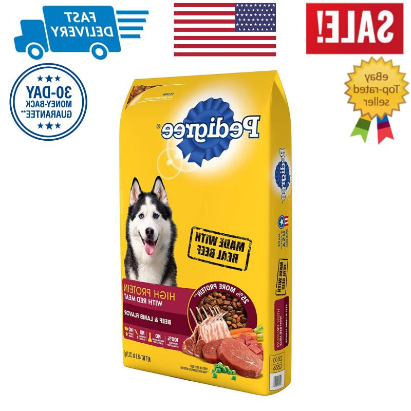 high protein adult dry dog food beef