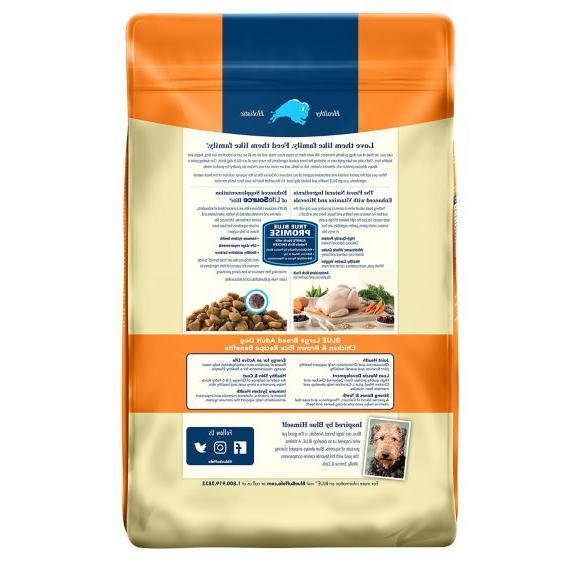 Blue Buffalo Formula Large Breed Puppy Food,Chicken, 30lb Free