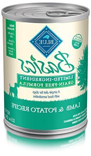 BLUE Basics Limited Ingredient Diet Adult Grain-Free Lamb &