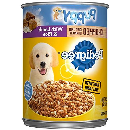 PEDIGREE Meaty Ground Dinner Puppy Complete Lamb and Rice Ca
