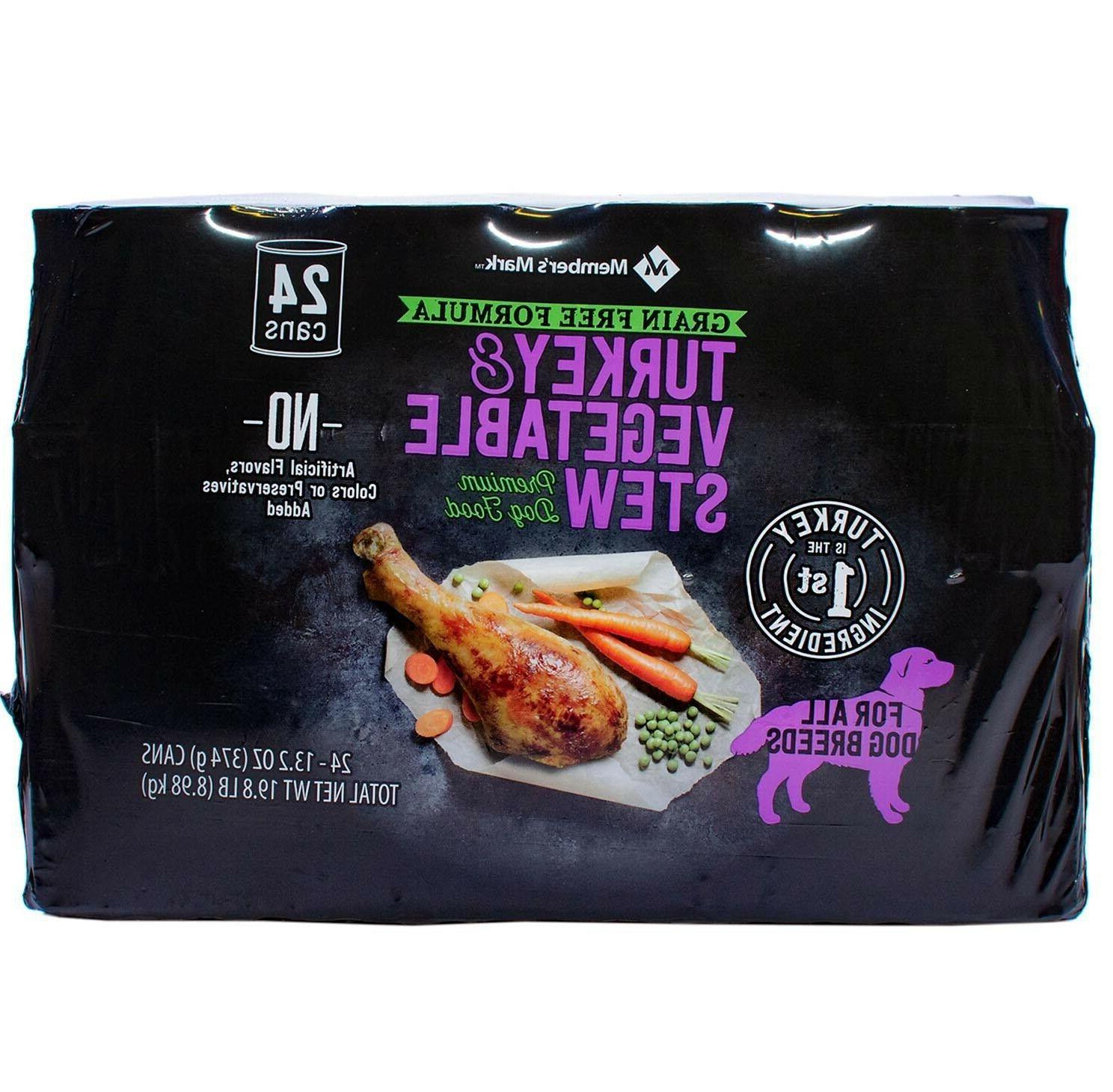 Member's Turkey Vegetable Stew Premium Dog oz., 24