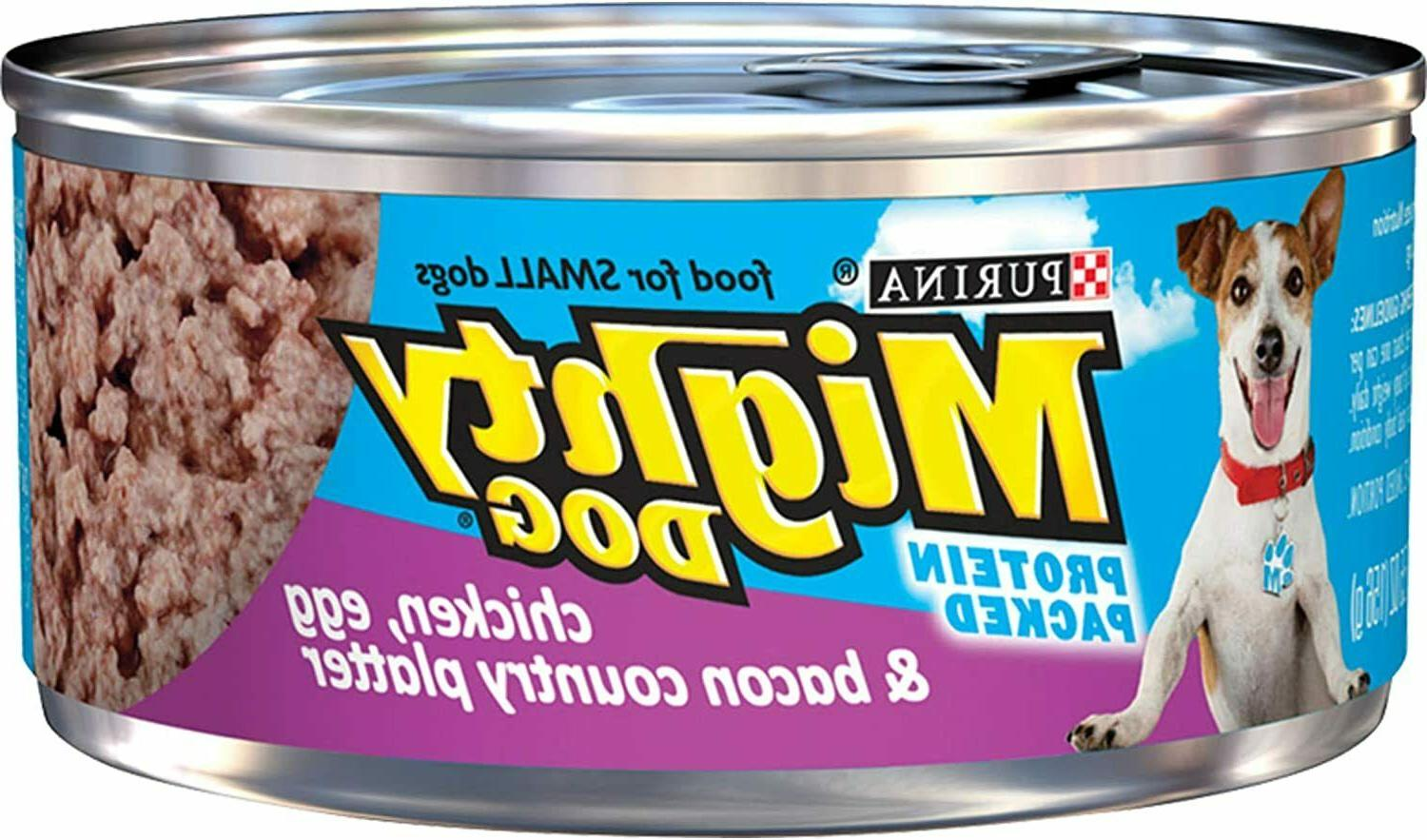 mighty dog wet dog food chicken egg