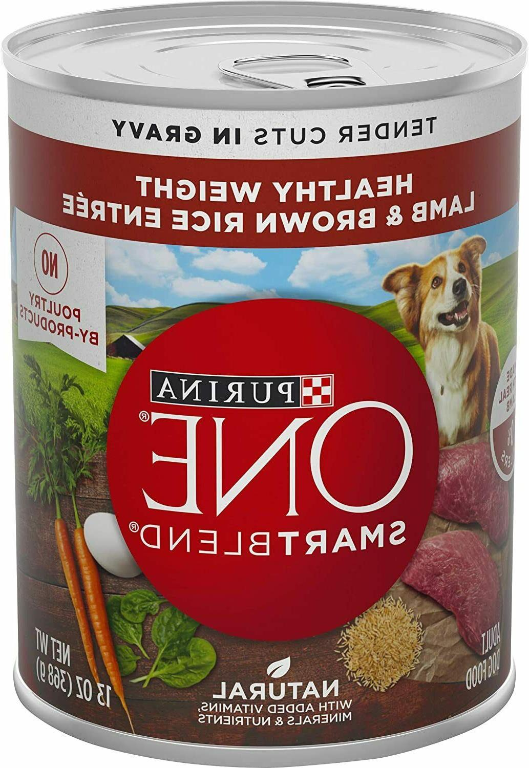 Purina Natural Healthy Adult Canned Wet Lamb Rice 13 oz 12 Pack