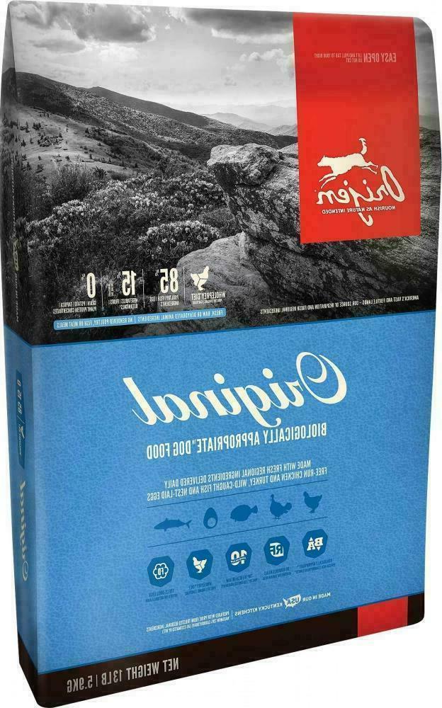 original dry dog food 25 lbs brand