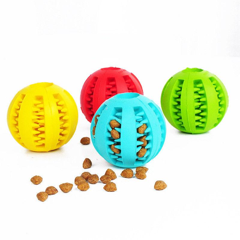 Pet Dog Rubber Food Dispenser Cleaning Training Toys