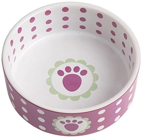 pet rageous daisy dots bowl