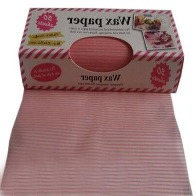 pink creative beautiful pinstripe wax paper greaseproof