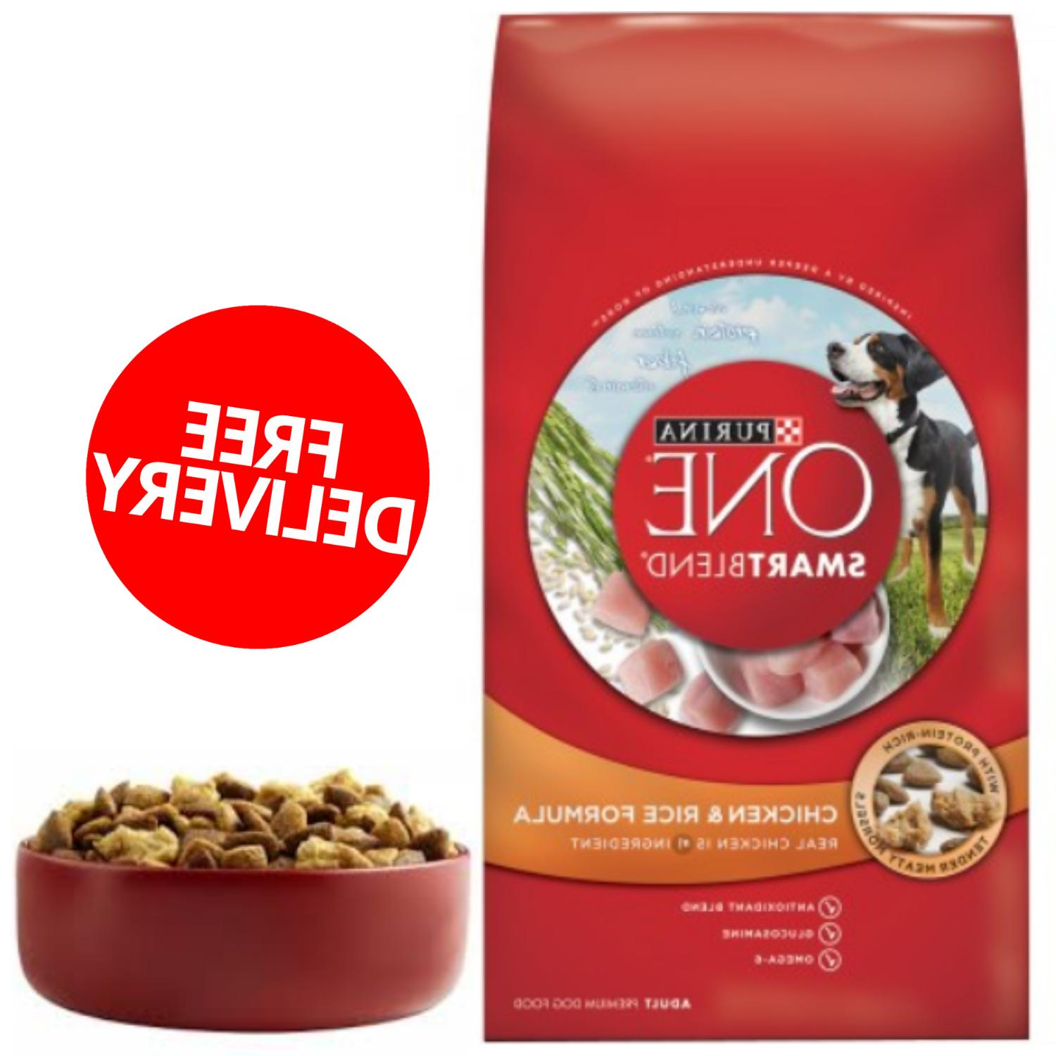Premium Dry Dog Food Purina ONE SmartBlend Chicken And Rice