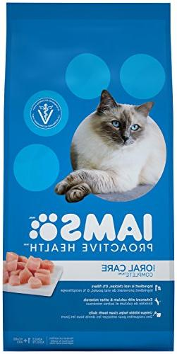 Iams Proactive Health Adult Cat Oral Care Chicken Dry Cat Fo