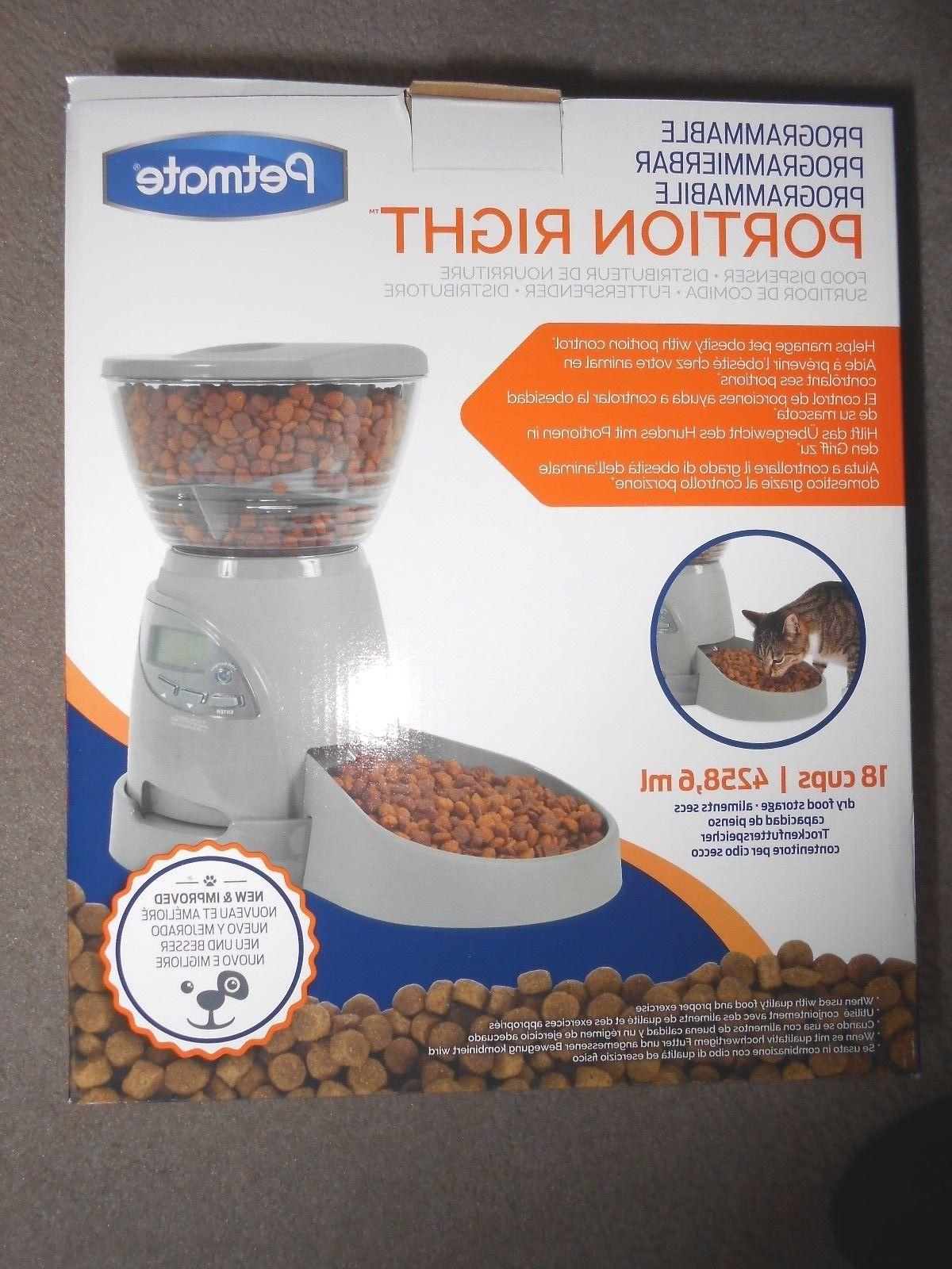 Petmate Programmable Portion Right Pet Feeder 18 Cups