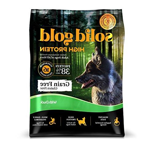 protein dry dog food grain