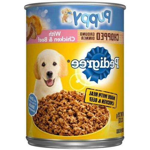 puppy ground dinner wet canned dog food