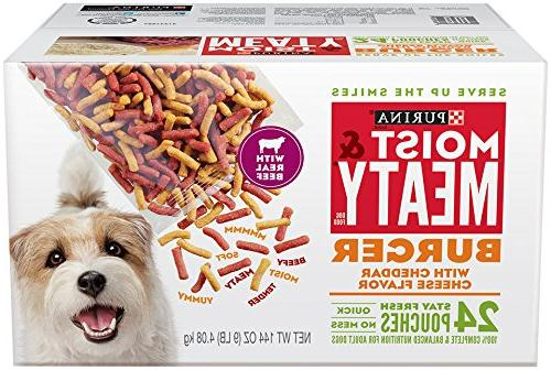 Purina Moist & Meaty Burger with Cheddar Cheese Flavor Dog F