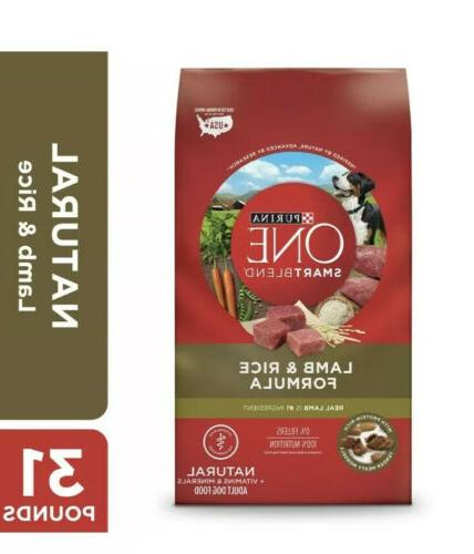Purina ONE SmartBlend Lamb & Rice Formula Dry Dog Food Stand