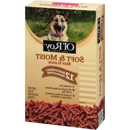 soft moist beef flavor dog