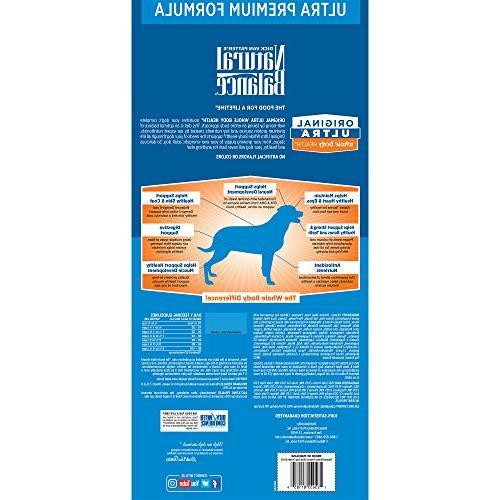 Natural Original Whole Dog Food, Chicken, Meal, Formula, 30-Pound