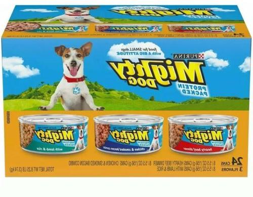 Purina Mighty Dog Wet Dog Food, 3 Flavor Variety Pack (Beef/