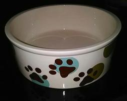 Large Stoneware Ceramic Dog Bowl Dish ~ Petrageous Paws N Ar