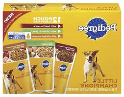 Pedigree Little Champions 12 Pouch Variety Pack Dog Food Wit