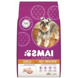 Iams MATURE & SENIOR DOG FOOD 3kg Chicken, All Breads, Healt