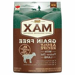 NUTRO MAX Grain Free Natural Adult Dry Dog Food Lamb 25 lbs.