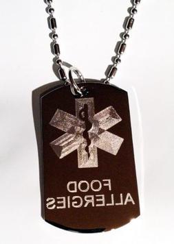 Medical Emergency Food Allergies Logo Symbols - Military Dog