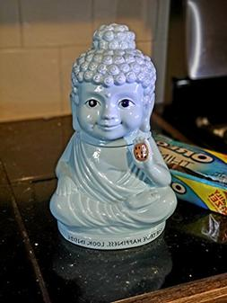 Meditating Buddha In Lotus Sky Blue Cookie Jar Happiness Ins