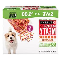 Purina Moist & Meaty Dog Food, Burger   For Pet Dog