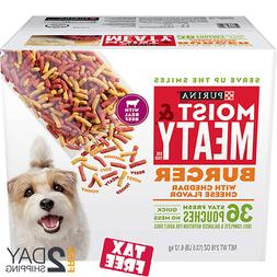 Purina Moist & Meaty Dry Dog Food, Burger with Cheddar Chees