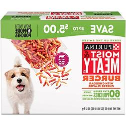 Purina Moist and Meaty Dog Food Burger Total 60 Count of 6 O
