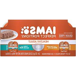 Iams Perfect Portions Grain Free Adult Wet Cat Food Paté Ch