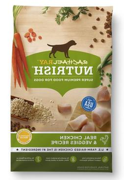 Natural Dry Dog Food Real Chicken & Veggies Recipe 28 lb