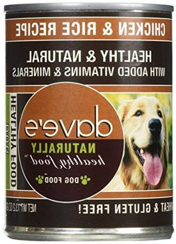 Dave'S Naturally Healthy, Chicken & Rice For Dogs, 13 Oz Can