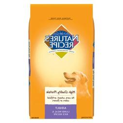 Nature'S Recipe Adult Dry Dog Food Adult Lamb Meal & Rice Re