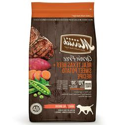 New 25-lb Merrick Grain-Free Real Texas Beef & Sweet Potato