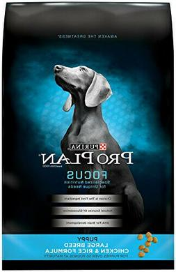new 34lb focus puppy large breed formula