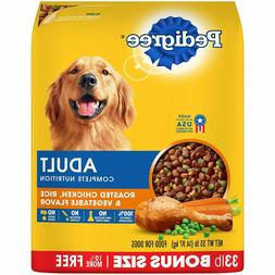 Pedigree Adult Dry Dog Food- Roasted Chicken, Rice & Vegetab