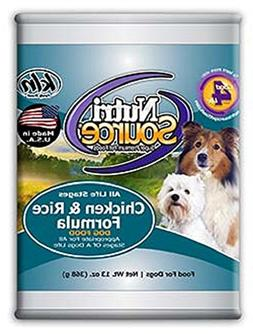 NutriSource Canned Dog Food Chicken/Rice, 13oz x 12 cans