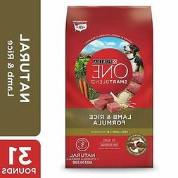 Purina ONE Natural Dry Dog Food, SmartBlend Lamb and Rice Fo
