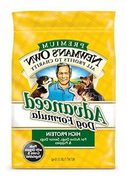 Newman's Own Advanced Dog Formula for Active or Senior Dogs,