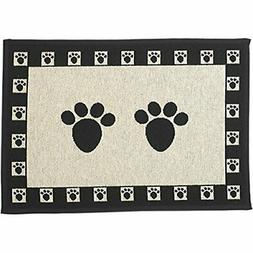 "PetRageous Paws Tapestry Mat Feeder, Large/28"" x 18"","